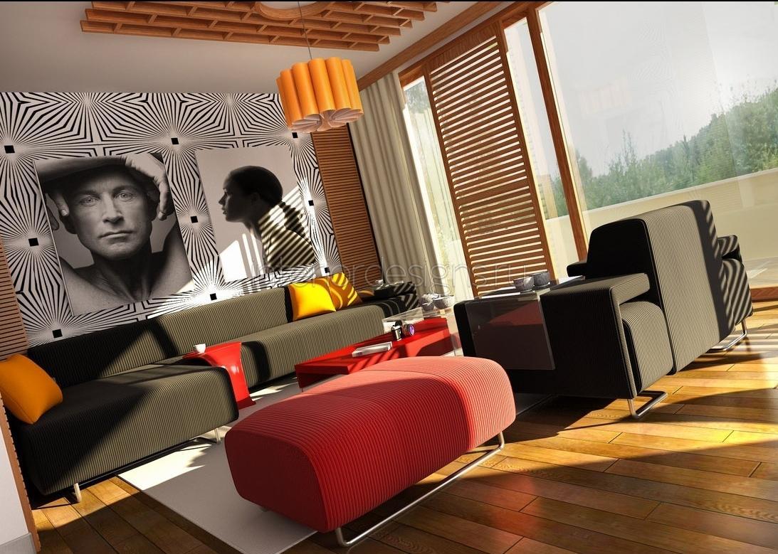 Дизайн обоев в гостиной фото 2016-2017 современные