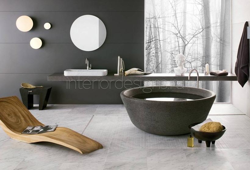 Современный декор ванной комнаты