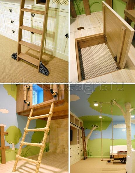 Дерево в интерьере детской комнаты