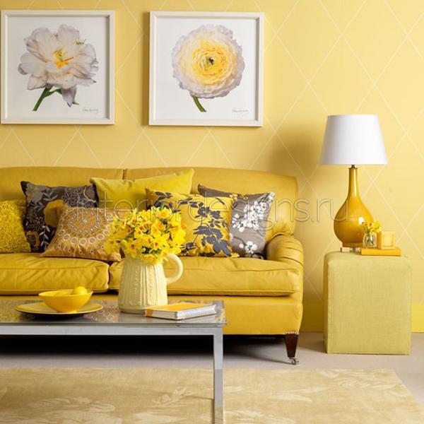 Дизайн желтого цвета