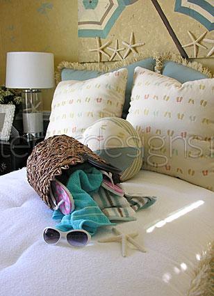 Спальня в морского интерьера