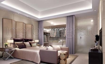 Совмещённая спальня и гардеробная дизайн
