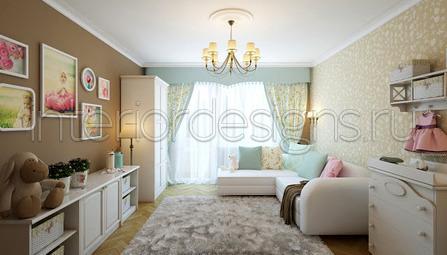 Дизайн совмещенной спальни с детской
