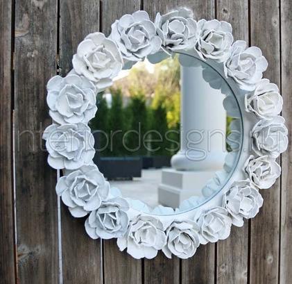 Как задекорировать зеркало своими руками фото