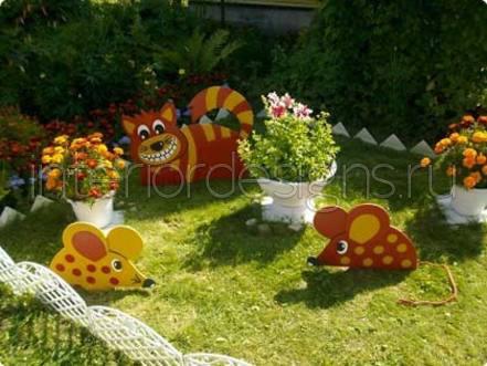 Клумбы с цветами декор