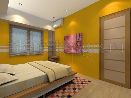 Натяжной потолок в желтом цвете