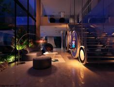 необычная мебель в гостиной