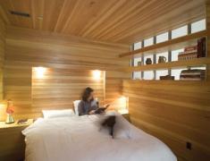 дизайн деревянной спальни