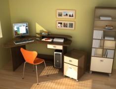 дизайн маленького кабинета