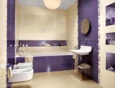 фиолетовый цвет в помещении