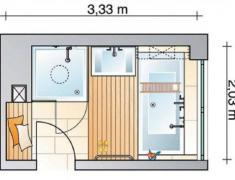 проект ванной комнаты на 3 кв. м