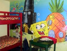 детские фотообои в интерьере комнаты