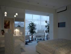 дизайн спальни с лоджией