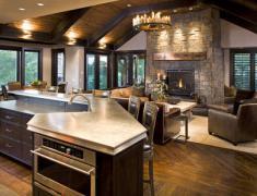 фото дизайна кухни-гостиной