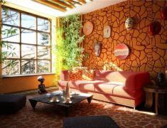 интерьер гостиной в этническом стиле