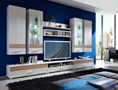 стенки в интерьере гостиной