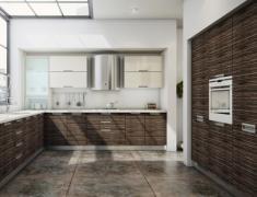 дизайн кухни зебрано