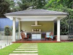 дизайн летней кухни на даче