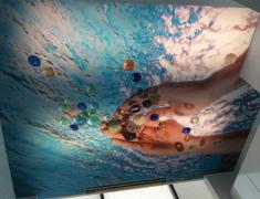 Креативные потолки: объемная роспись